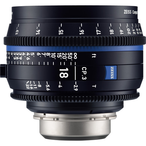 لنز-زایس--Zeiss-CP-3-18mm-T3-9-Compact-Prime-Lens-(Sony-E--Mount,-Feet)
