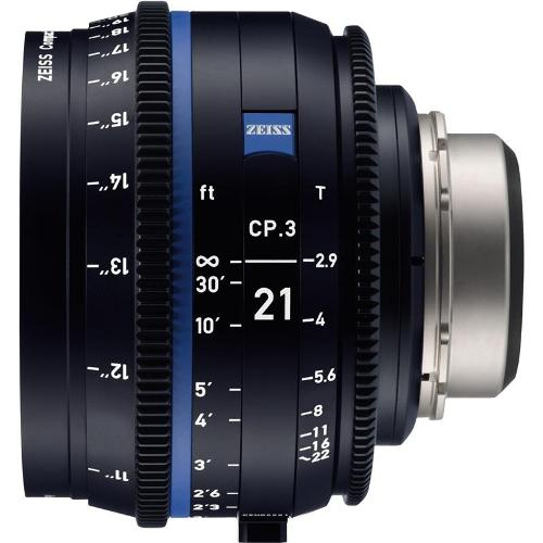 لنز-زایس--Zeiss-CP-3-21mm-T2-1-Compact-Prime-Lens-(Sony-E---Mount,-Feet)