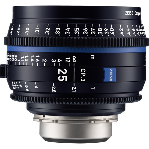 لنز-زایس--Zeiss-CP-3-25mm-T2-1-Compact-Prime-Lens-(PL-Mount,-Feet)