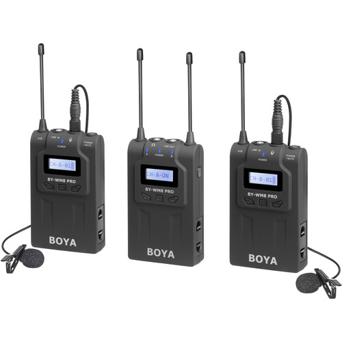 BOYA-BY-WM8-Pro-K2-UHF-Dual-Channel-Wireless-Lavalier-System