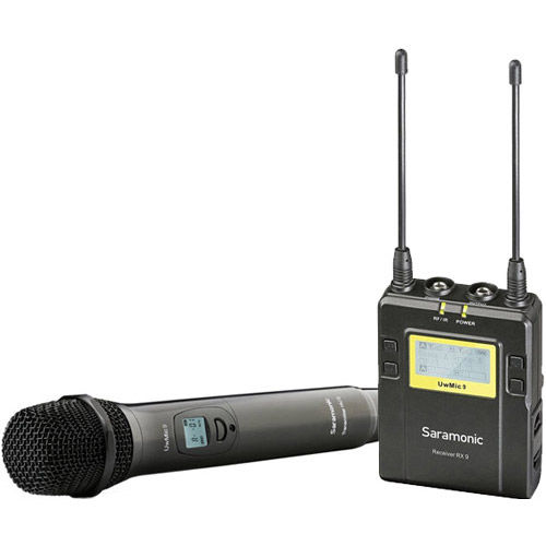 میکروفون-هاشف-سارامونیک-Saramonic-UwMic9-CAMERA-MOUNT-WIRELESS-CARDIOID-HANDHELD-MICROPHONE-SYSTEM-RX9-HU9