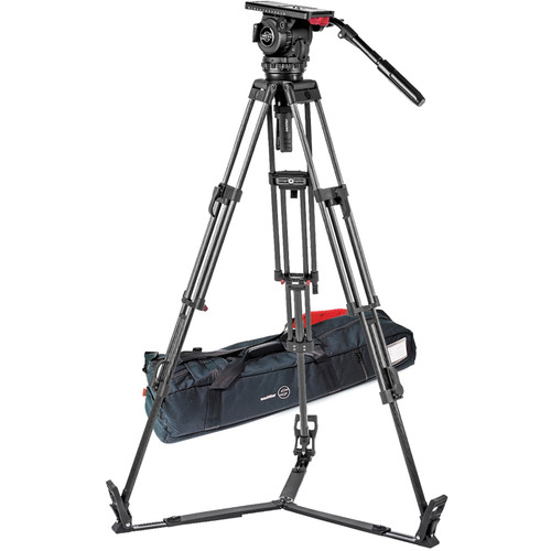 Sachtler-Video-18-S2-Fluid-Head---ENG-2-CF-Tripod-System-with-Ground-Spreader