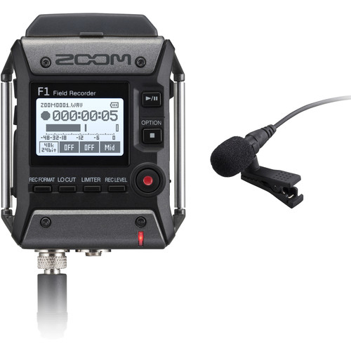 رکوردر-صدا-زوم-Zoom-F1-LP---Field-Recorder-with-Lavalier-Microphone